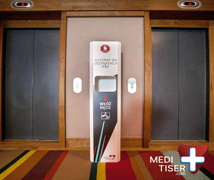 Stacja do dezynfekcji - winda